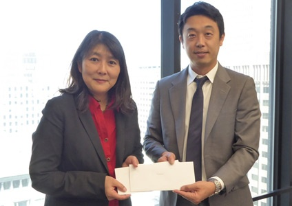Meg Mizutani gives donation for Kumamoto Earthquake and Great East Japan Earthquake